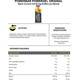 PowerBar PowerGel Original Box Black Currant mit Koffein 24 x 41g